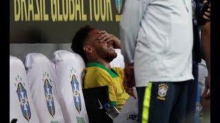 Brésil : Blessé, Neymar sort en larmes du terrain !