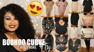 HUGE !! BOOHOO PLUS SIZE / CURVE FALL 2016 CLOTHING HAUL + TRY ON