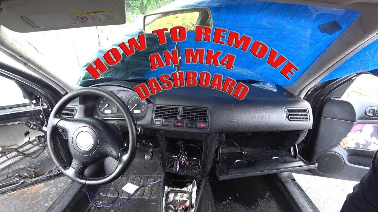 How to Remove an MK4 GTI/Jetta/Golf Dashboard DIY Odometer Wiring Diagram Mk Golf on