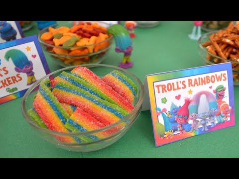 Trolls Party Snack Food Bar Sharing Ideas