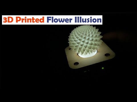 3D Printed Electro Kinetic Optical Illusion Flower 👉 Gadgetify