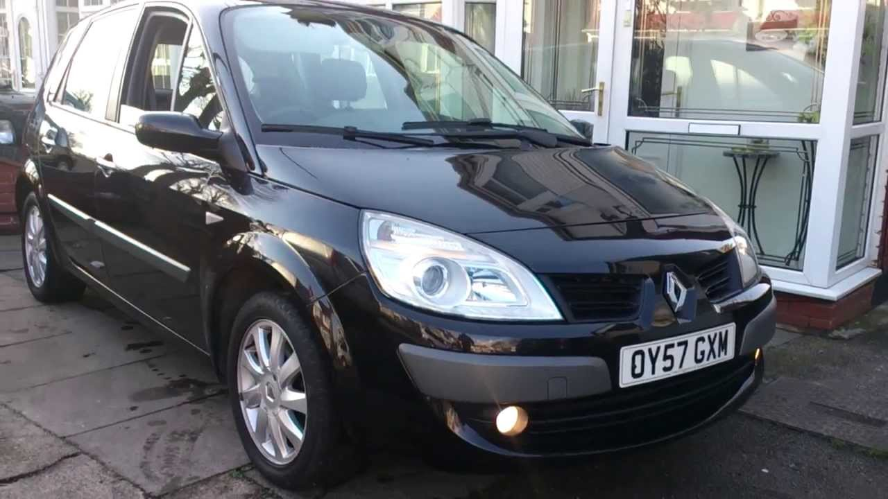 2007 57 renault scenic 1 6 dynamique vvt auto for sale in birmingham part 1 exterior youtube. Black Bedroom Furniture Sets. Home Design Ideas
