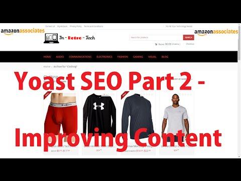 Yoast SEO Part 2   Improving Content