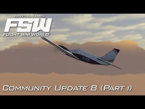 Flight Sim World - Community Update 8 | TrueSKY Weather! | Early Access