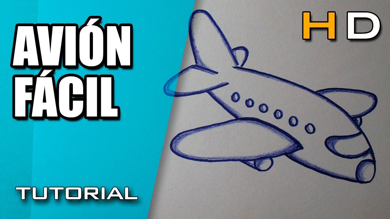 Cómo Dibujar Un Avión Paso A Paso Fácil