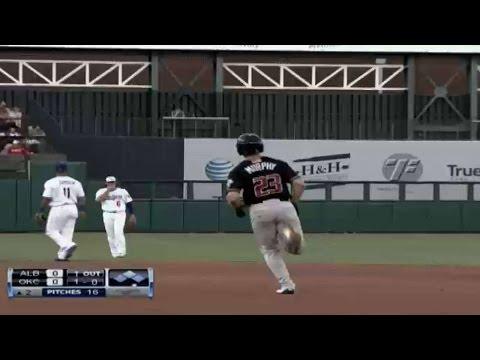 Albuquerque's Murphy hits solo homer