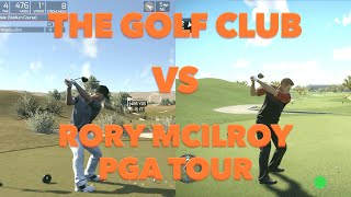 The Golf Club vs. Rory Mcilroy PGA Tour - Side-by-Side Comparison