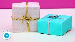 How to make gift box with paper - Very Easy