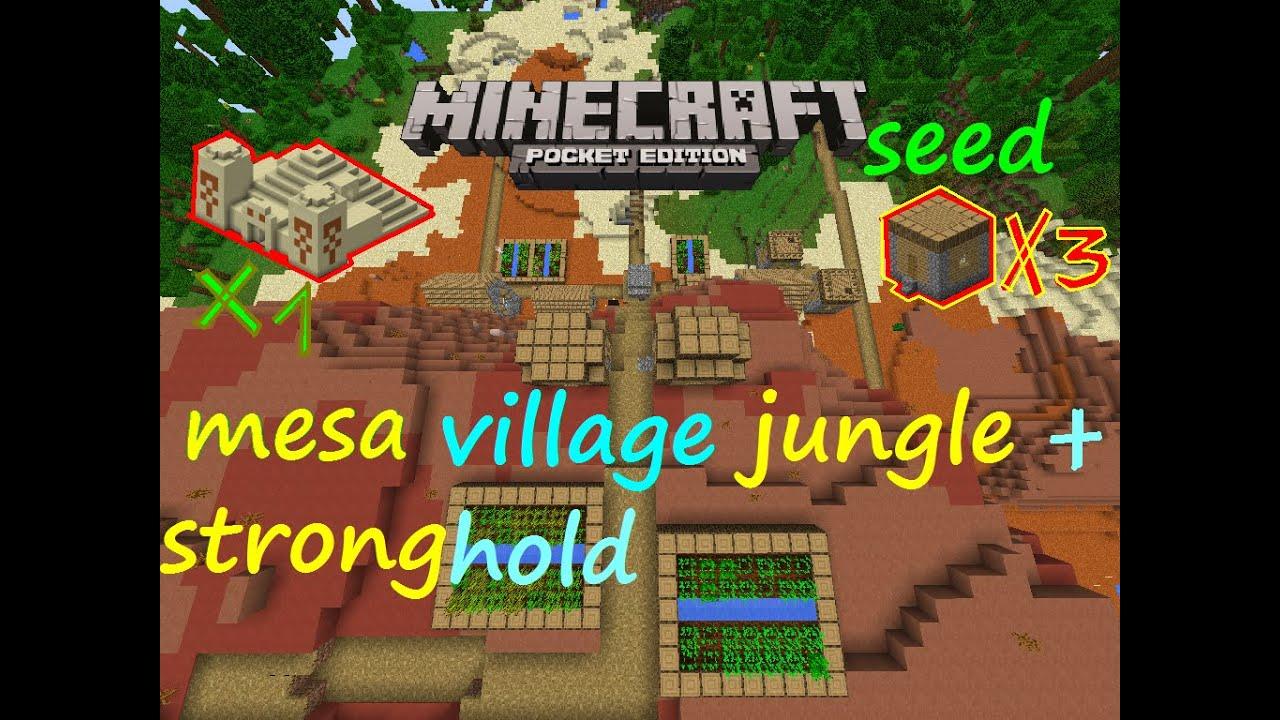 9: Rare Mesa Village  Minecraft PE Seeds