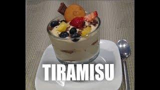 Tiramisu Dessert  with Fruit For Adults and Kids .Tiramisu deser.  Episode#11