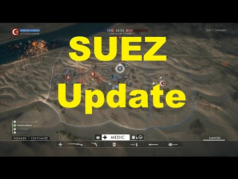 Updates to Suez Map & Hardcore Mode Battlefield 1