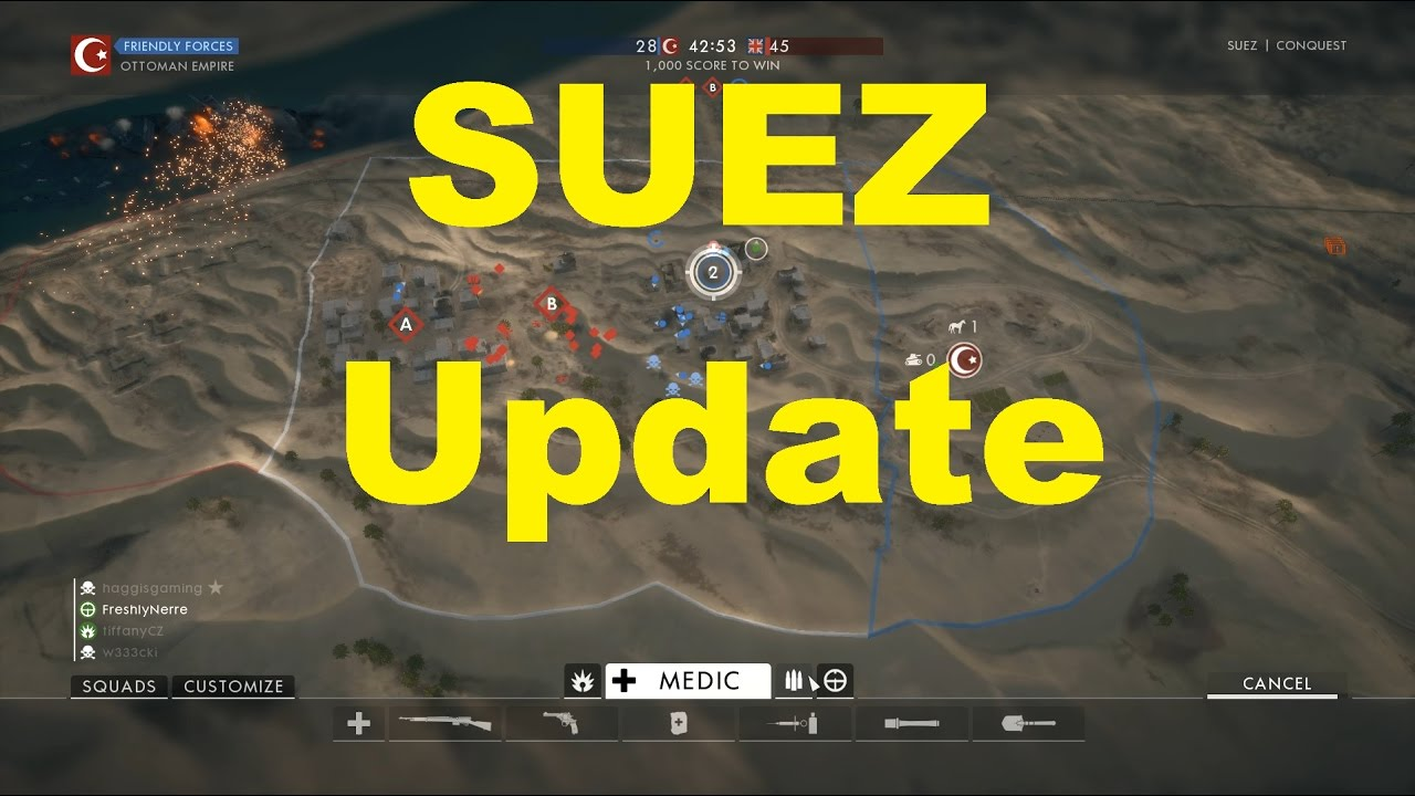 Updates to Suez Map Hardcore Mode Battlefield 1 YouTube