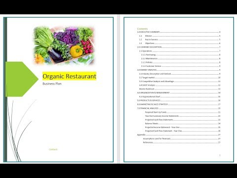 Organic Restaurant business plan