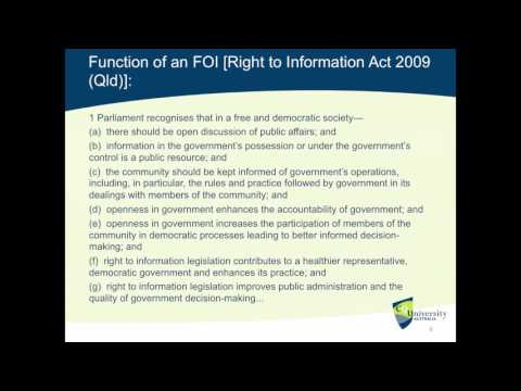 Access to Information (Lecture)