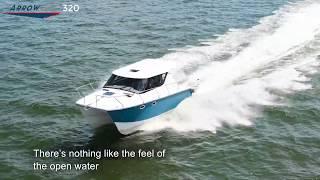 ArrowCat Power Catamaran In Full Control
