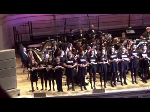 Carnegie Hall Dec. 1, 2016 Victoria Csatay and the Broadway Youth Ensemble