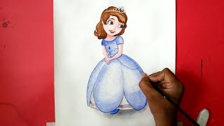 How to draw Sofia the first Character from Disney