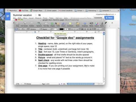 Google Docs Checklist YouTube - Google docs checklist