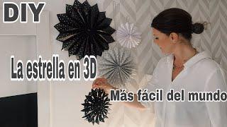 DIY Como hacer ESTRELLAS DE NAVIDAD EN PAPEL 3D / Copos de nieve 3D
