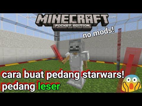 Cara Buat Pedang Starwars (pedang Leser) Di MinecraftPE No Mods!
