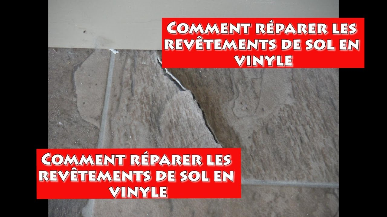 reparer le rev u00eatement de vinyle