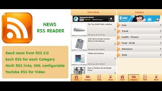 News RSS Feeder Android App Demonstration
