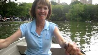 Rowing a boat in Central Park