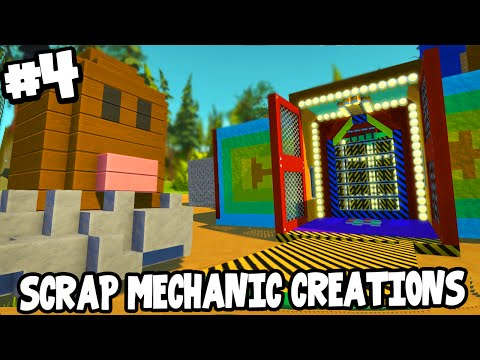 Scrap Mechanic CREATIONS! - EPIC FUN HOUSE + DIGLETT! [#4] W/AshDubh | Gameplay |