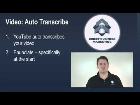 Video Marketing: Auto Transcription