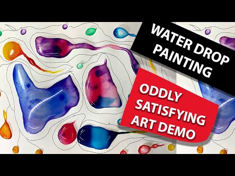 #SHORTS | water drop painting techniques | watercolor abstract painting techniques