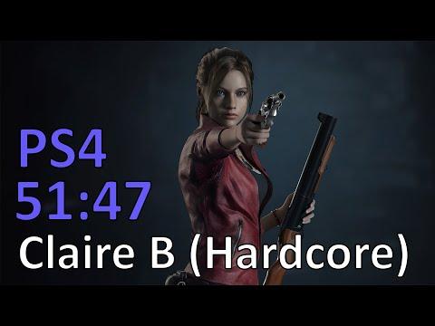 Resident Evil 2: Claire B Hardcore S+ Speedrun (PS4 Pro) - 51:47 IGT