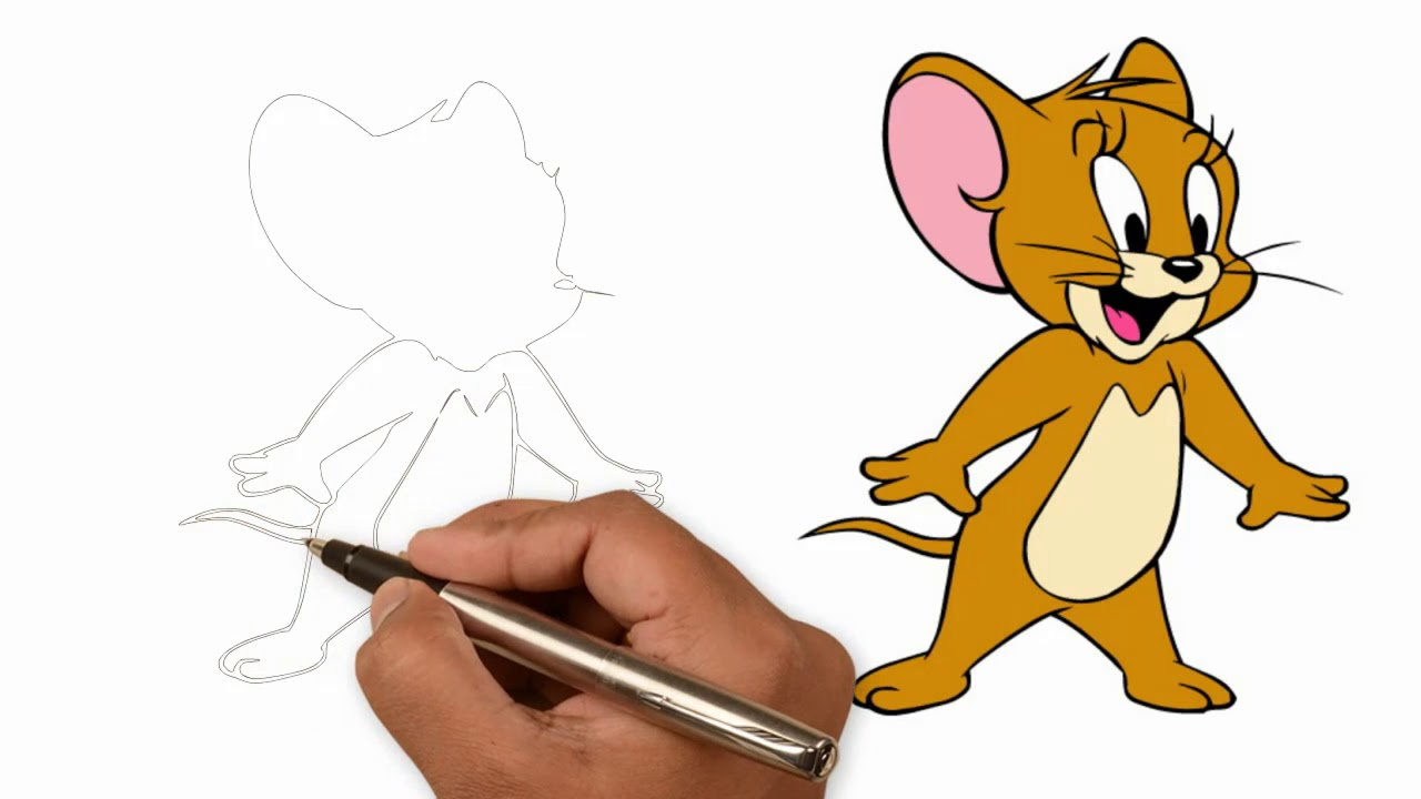 We Drawing How To Draw Jerry Full Body Youtube