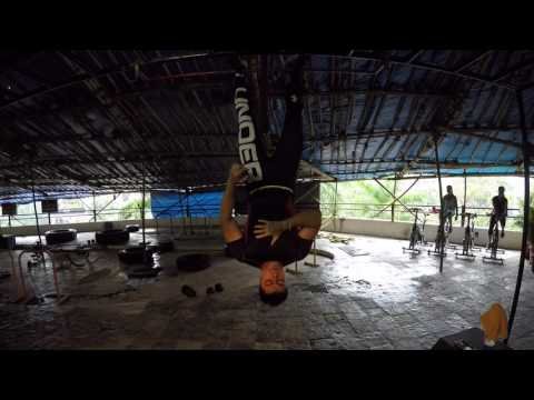 Ravi Seth's Vlog 1039 Reverse Hanging oblique crunch with Gravity boots