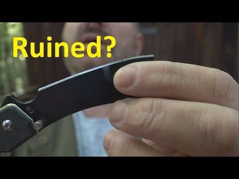 Abused D2 Knives - Impossible To Sharpen?