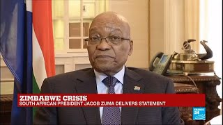REPLAY - South Africa's President Jacob Zuma delivers statement on Zimbabwe crisis