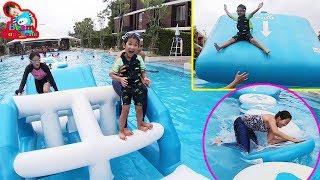 น้องบีม | ตะลุยด่านของเล่นน้ำเป่าลม เที่ยวเพชรบุรี So Sofitel Hua Hin