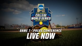 2016 Women's College World Series - Game 7 Postgame Press Conference
