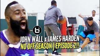 John Wall ALL ACCESS at Miami Pro League with James Harden!   NO OFFSEASON   episode 2