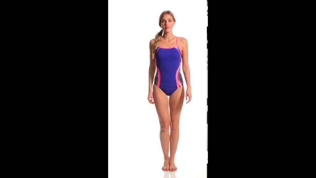 582326f6296 Speedo Power Prism Thin Strap One Piece Swimsuit | SwimOutlet.com - YouTube