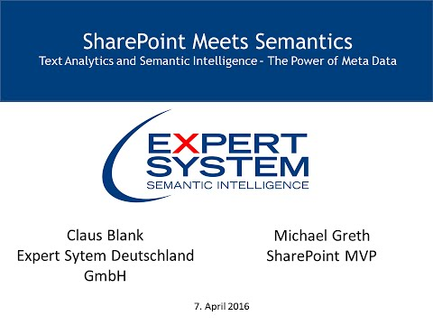 Text Analytics and Semantic Intelligence for SharePoint