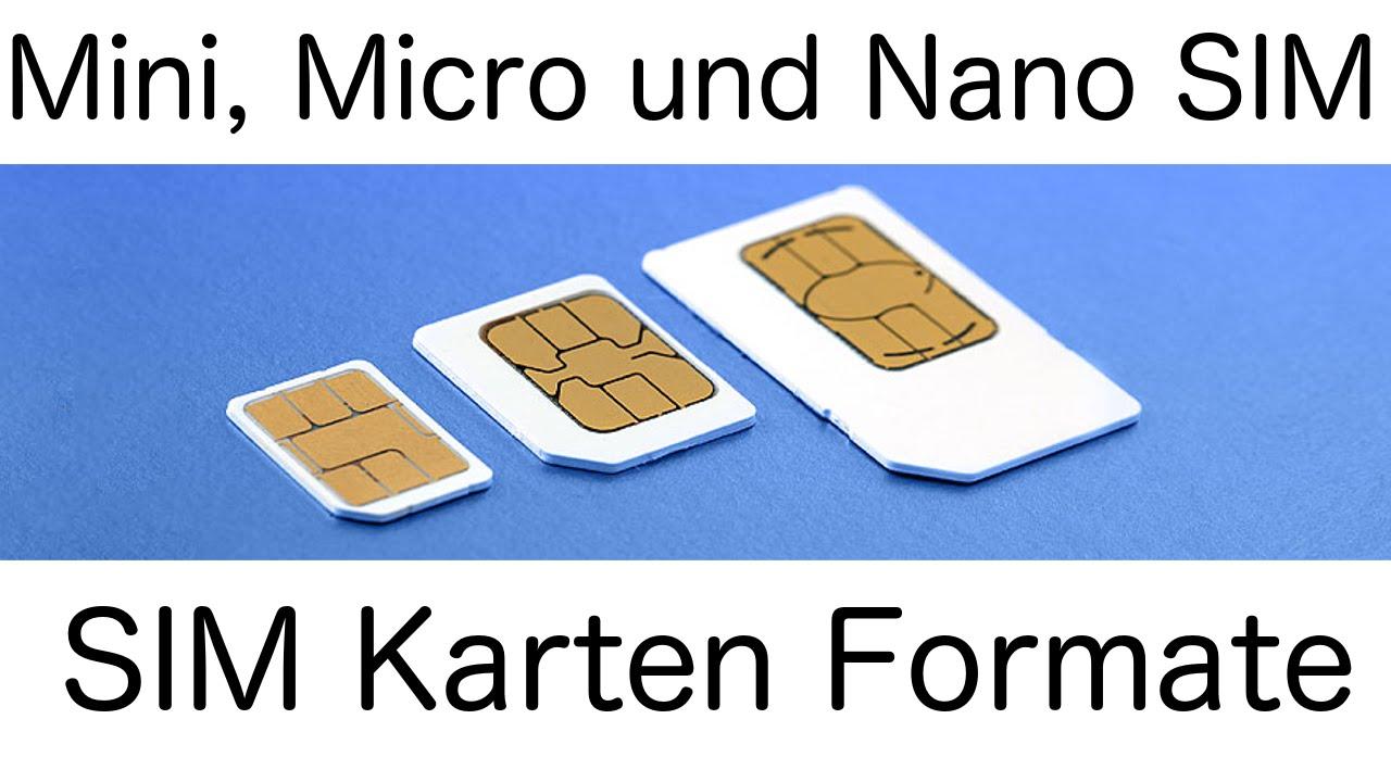 Mini, Micro und Nano SIM (Unterschiede) - [HD] - YouTube