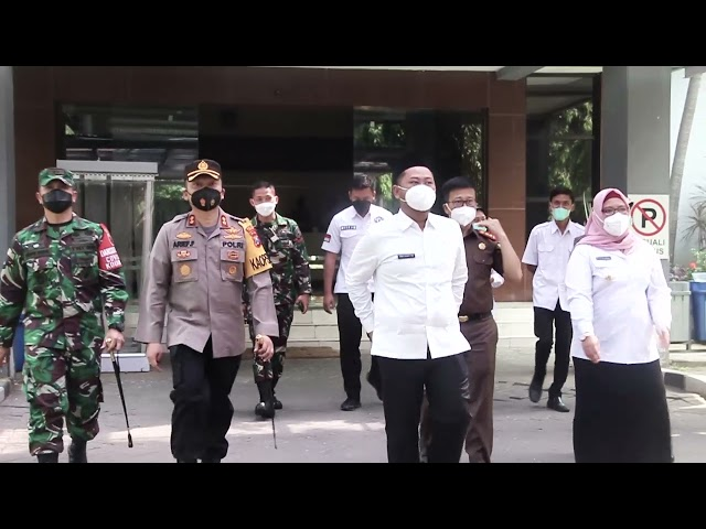 Kapolres Gresik Melaksanakan Rapag Koordinasi Pelaksanaan Dan Evaluasi PPKM Mikro