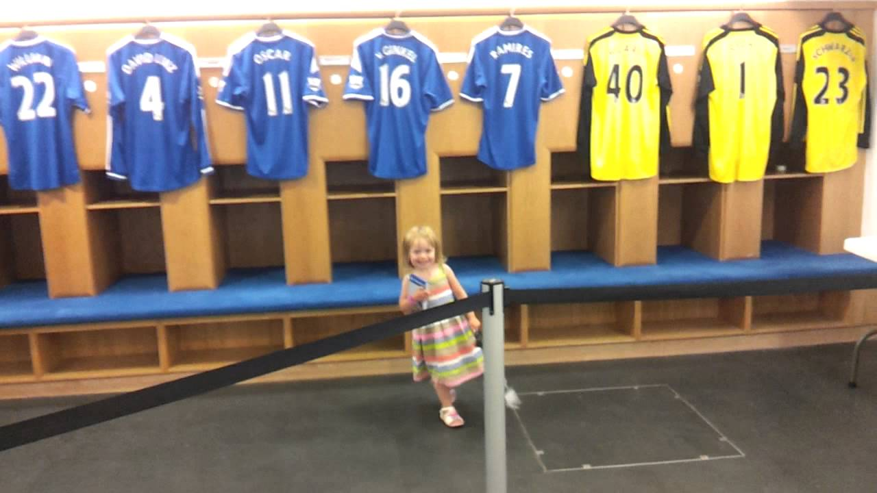 Isabella In Chelsea Fc Changing Room Youtube