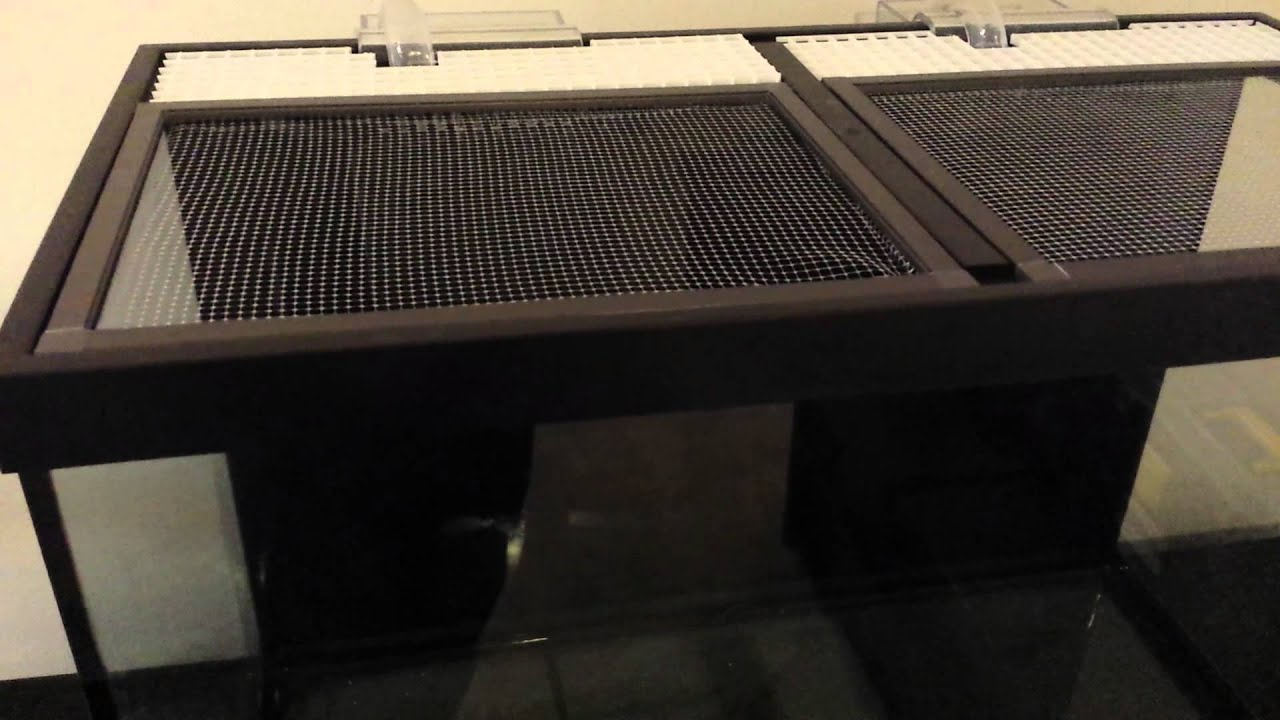 65 gallon reef tank canopy screen top details youtube for 55 gallon fish tank lid