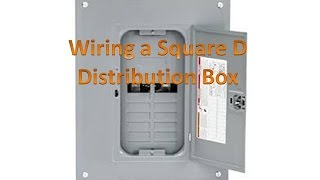 Wiring a Distribution Box for Off Grid Solar - also known as a Breaker Box