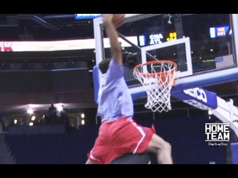 6'2 Corey Sanders Dunks Over 7'6 Tacko Fall - YouTube