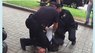 Спросил причину  остановки облили газом  мордой в пол  Быдло полиция
