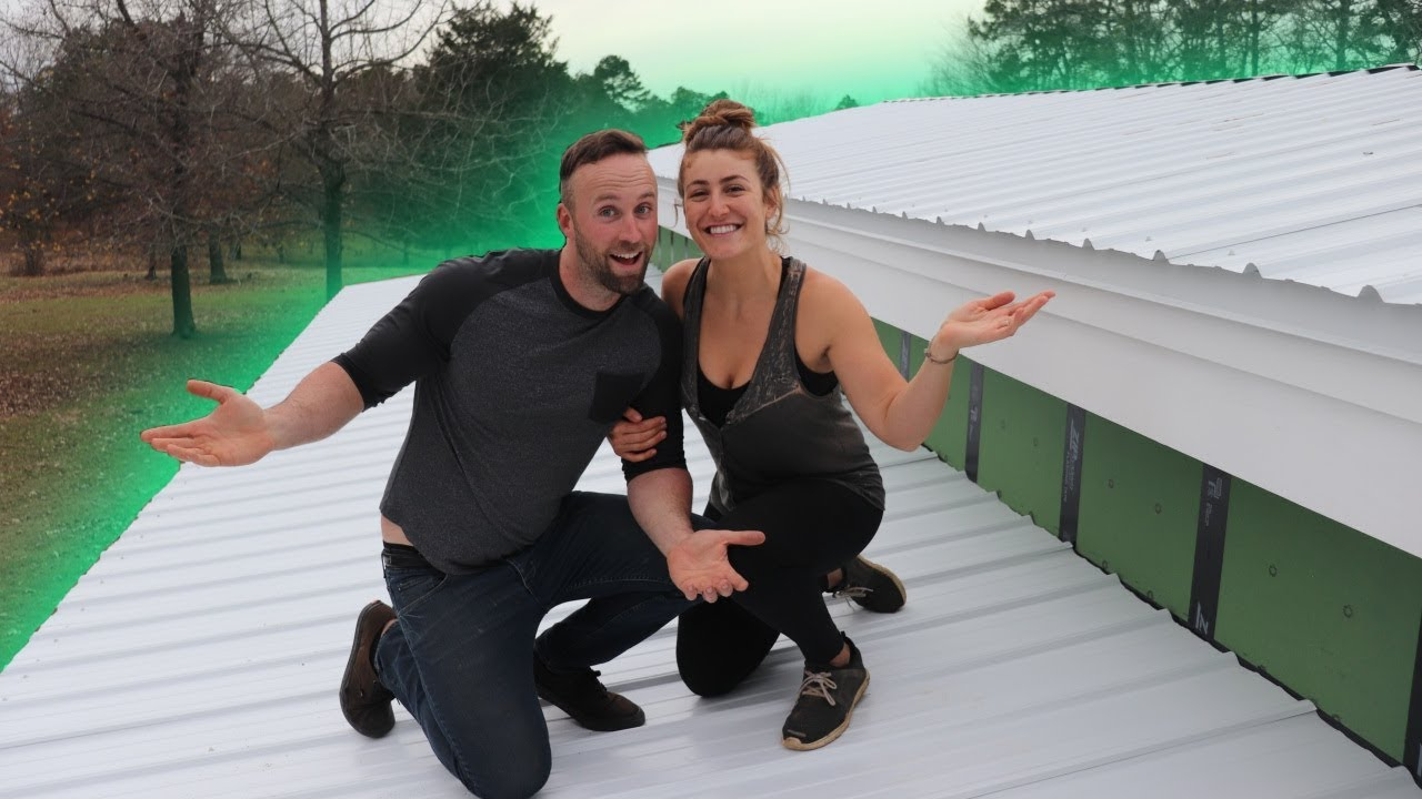 Our 1st Shipping Container Roof Is Done Youtube