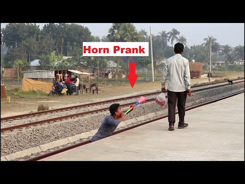 Train Horn Public Scary Prank Video 2021