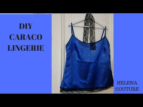 DIY lingerie  caraco en satin / Sew a satin camisole - Helena Couture